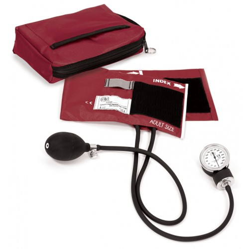 1. klasses Aneroid Blodtryksmåler med Taske Burgundy