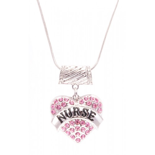 Halskæde Pink Hjerte