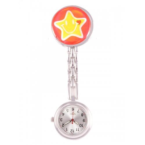 Smiley Stjerne Ur rød