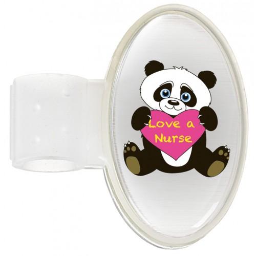 Navneskilt til stetoskop Panda