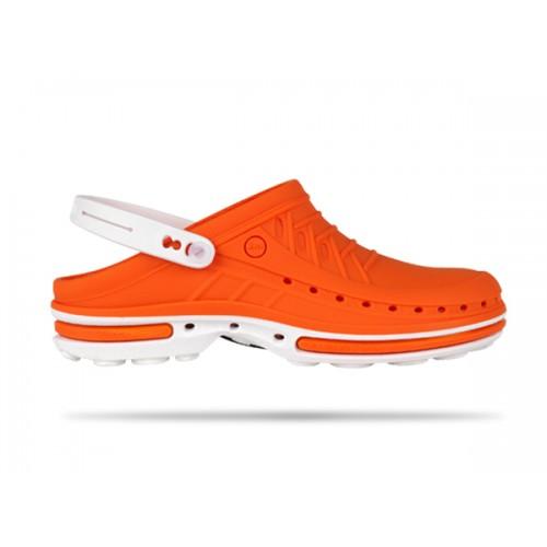 Wock Clog 05 Hvid / Orange
