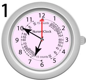Vent til den anden viser peger på 12 eller 6
