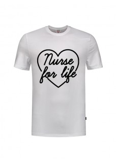 T-Shirt Nurse For Life Hvid