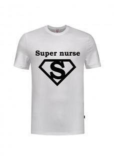 T-Shirt Super Nurse 1 Hvid