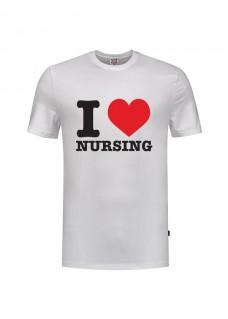 T-Shirt I love Nursing Hvid