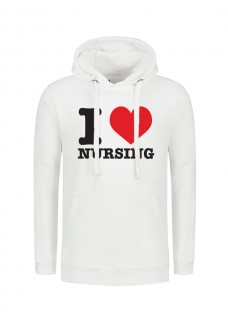 Hættetrøjer I Love Nursing Hvid