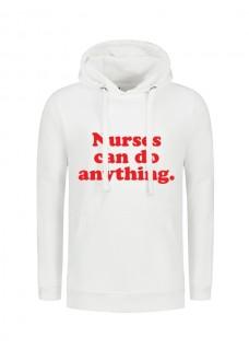 Hættetrøjer Nurses Can Do Anything Hvid