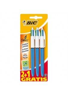 BIC 4 Farvede Kuglepenne (3-pak)