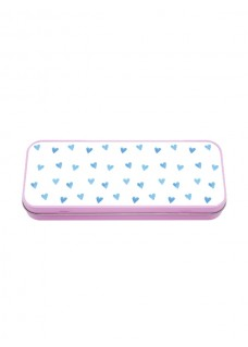Metal Stationary Case Blue Harts