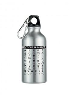 Sport drikkeflaske Doctors Alphabet Silver