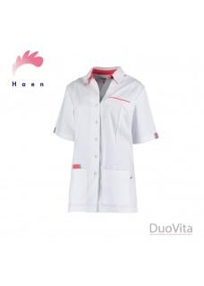 Haen Sygeplejerske Jakke Paulien Hvid / Grå Orient Pink Cross