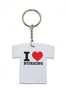 Nøglesnor T-Shirt I Love Nursing