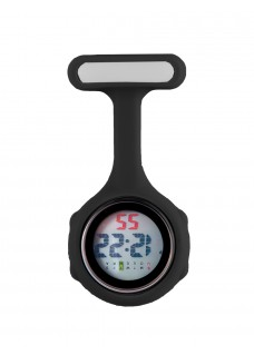 Digital Nurses Fob Watch Black