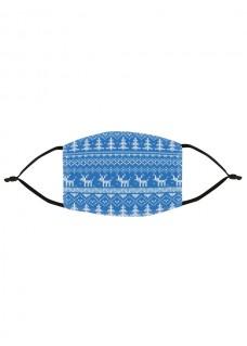 Ansigtsmaske Julesymboler Blå