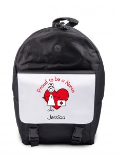 Backpack Proud to be a Nurse with Name Print