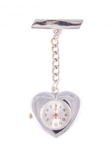 Hjerteformet Sygeplejerskeur I Sølv