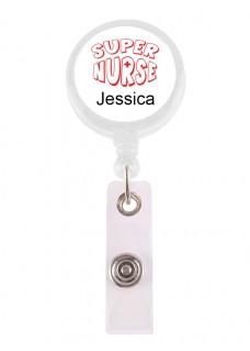 ID-Holder Super Nurse 2 med navn udskrift
