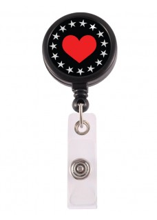 Retracteze ID-Holder Heart Bling