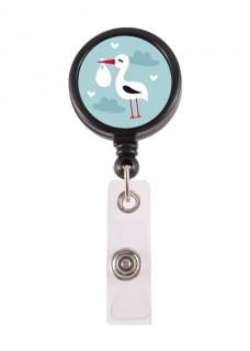 Retracteze ID Holder Stork Baby