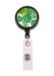 Retracteze ID Holder Tropical Leaves