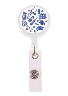 Retracteze ID Holder Old Blue Hvid