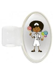 Navneskilt til stetoskop Candy Nurse