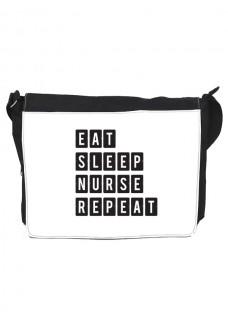 Skuldertaske Stor Eat Sleep Nurse Repeat
