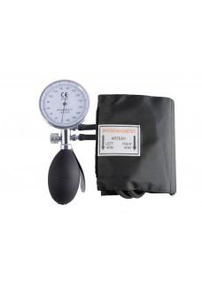 Blodtryksmåler Aneroid Énhåndsbetjening med Taske Sort Sølv