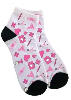 Ankelstrømper til Kvinder Medicinske Symboler Pink