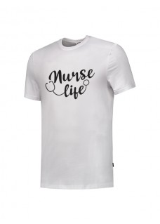 T-Shirt Nurse Life Hvid
