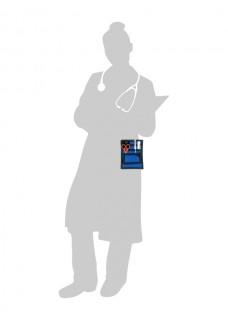 Sygepleje Organizer Sort/Blå + GRATIS Tilbehør