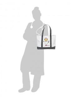 Stor Canvas Taske Med Stikkende Sygeplejerske
