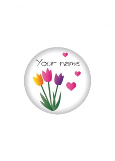 Button Blomster