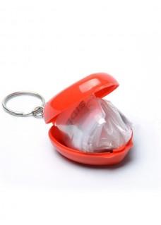 CPR Maske Nøglering Hjerte Rød