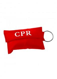 CPR Maske Nøglering Rød