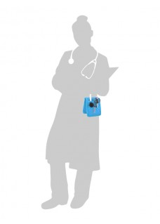 Elite Bags KEEN'S Sygepleje organiser Blå + GRATIS tilbehør