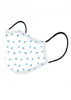Ansigtsmaske Blå Hjerter