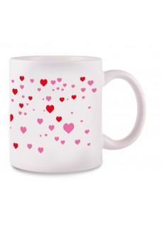 Krus Stick Heart Hvid
