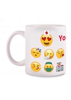 Krus Emoji Nurse med navm