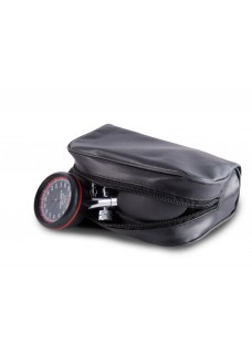 Blodtryksmåler Aneroid Énhåndsbetjening med Taske Sort Rød