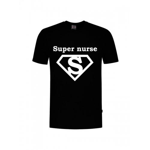 T-Shirt Super Nurse 1 Sort
