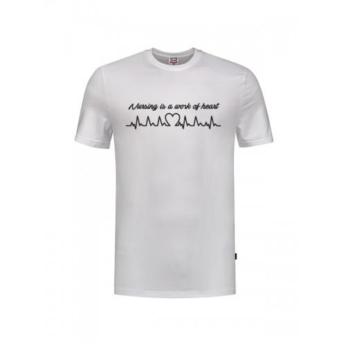 T-Shirt Work of Heart Hvid