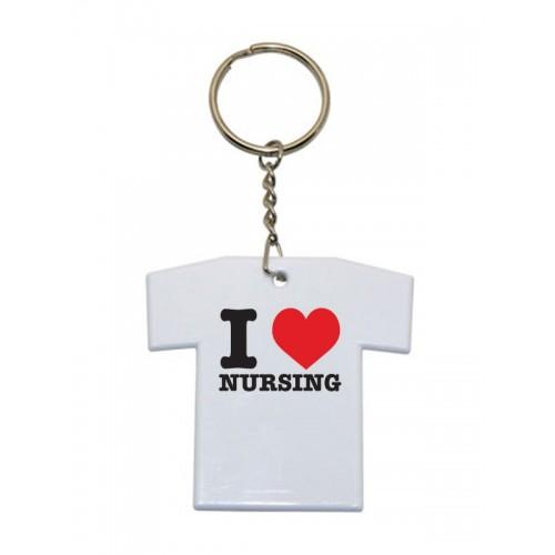 Nøglesnor T-Shirt I Love Nursing