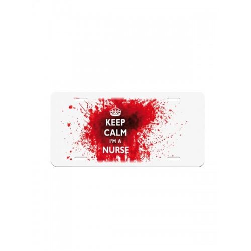 Nummerplade Keep Calm Nurse