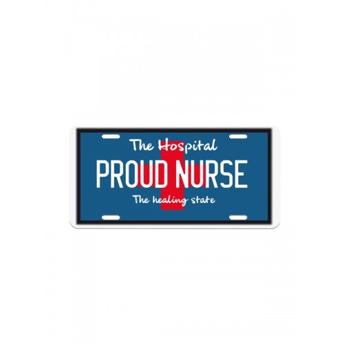 Nummerplade Proud Nurse