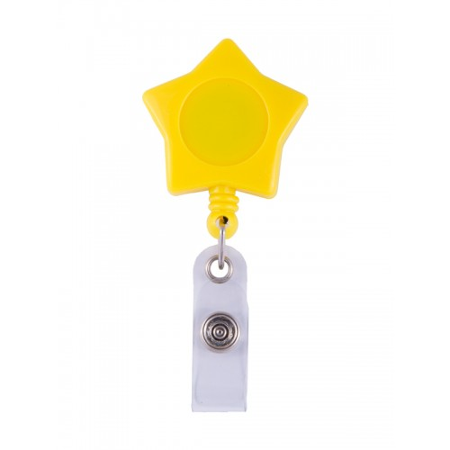 Retracteze ID-Holder Yellow Star
