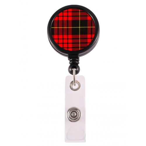 Retracteze ID Holder Tartan Rød