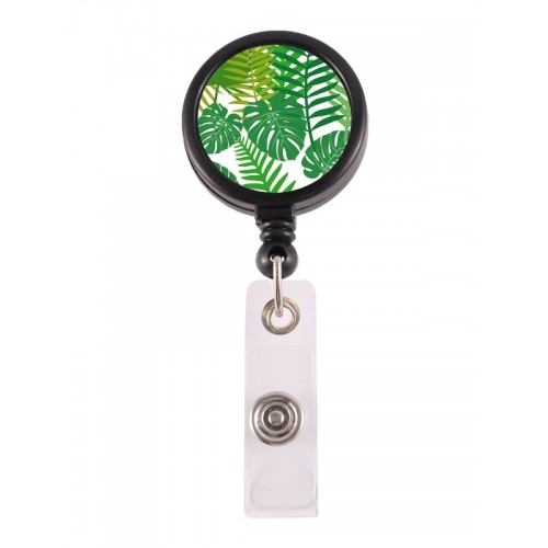 Retracteze ID Holder Tropical Leaves