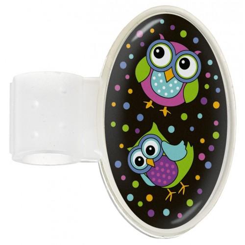 Navneskilt til stetoskop Owl Black Party