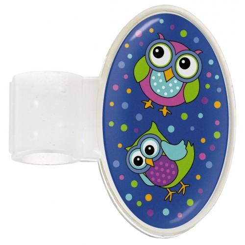 Navneskilt til stetoskop Owl Blue Party
